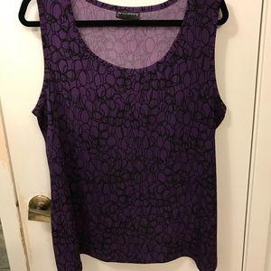 EUC JMS Blouse Purple w/black multi circle design